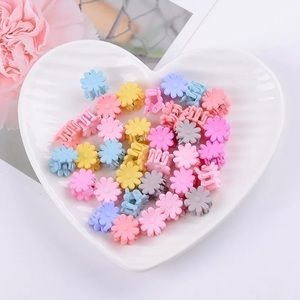 🎉 10 Piece Flower Claw Hair Clips New!